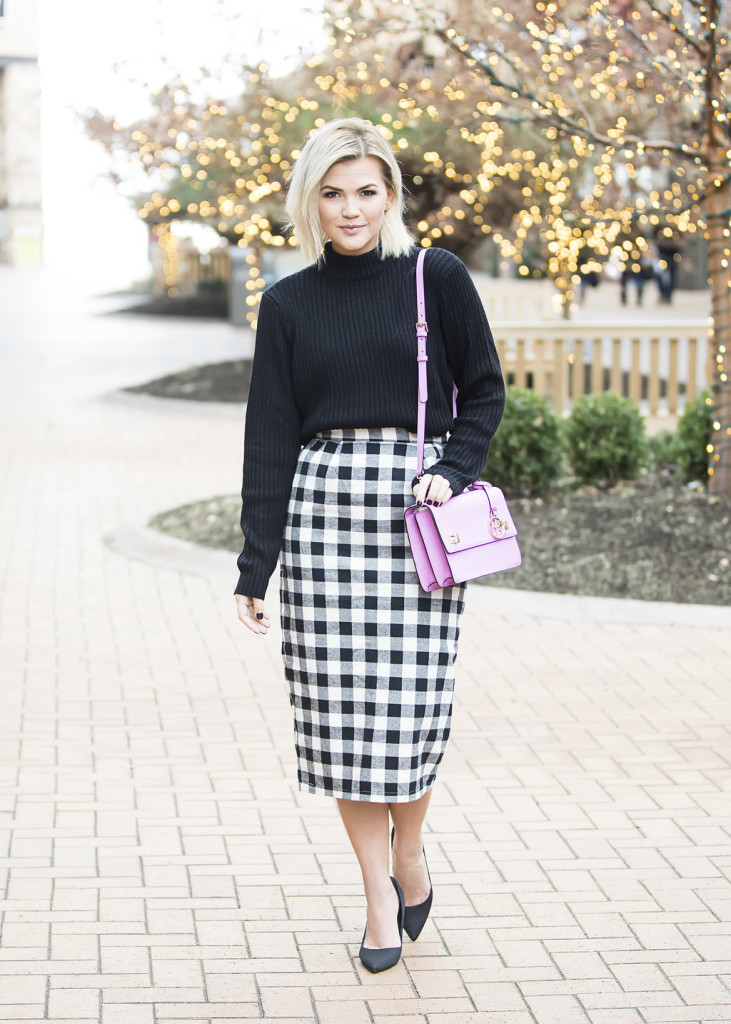 Wild One Forever - Kingdom and State Buffalo Check Skirt and Henri Bendel Schoolbag 1