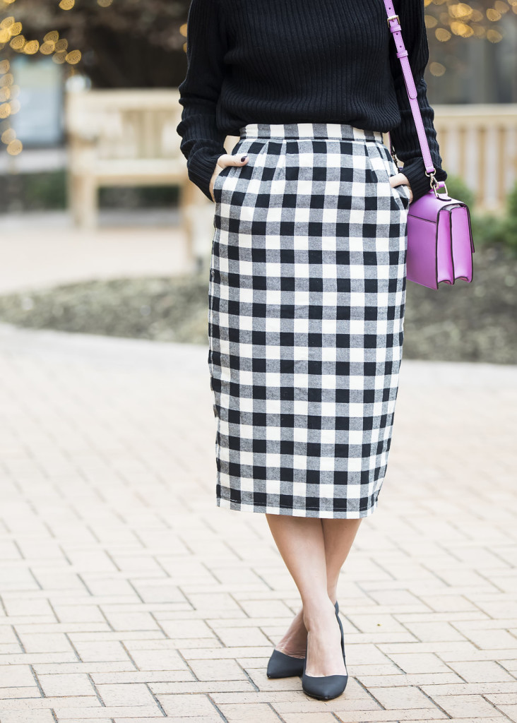 Wild One Forever - Kingdom and State Buffalo Check Skirt and Henri Bendel Schoolbag 2