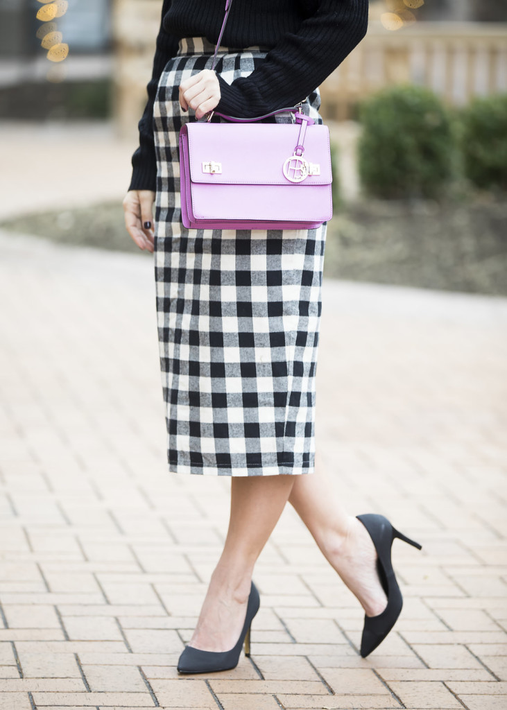 Wild One Forever - Kingdom and State Buffalo Check Skirt and Henri Bendel Schoolbag 3