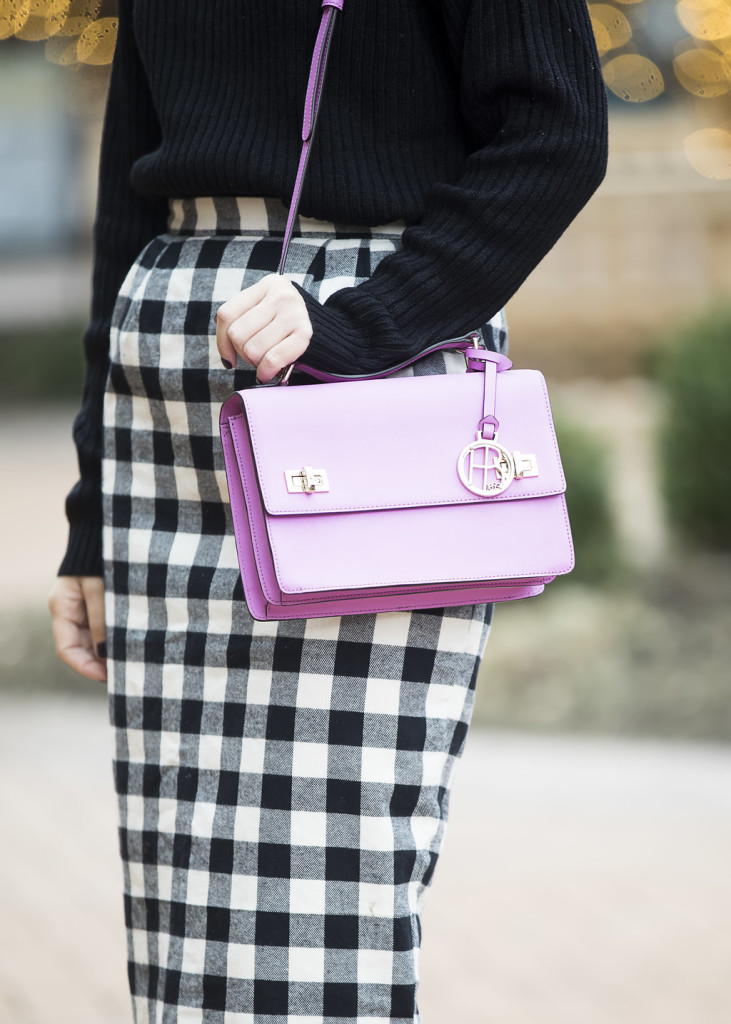 Wild One Forever - Kingdom and State Buffalo Check Skirt and Henri Bendel Schoolbag 4
