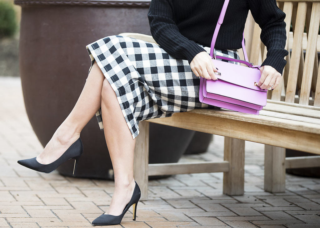 Wild One Forever - Kingdom and State Buffalo Check Skirt and Henri Bendel Schoolbag 6