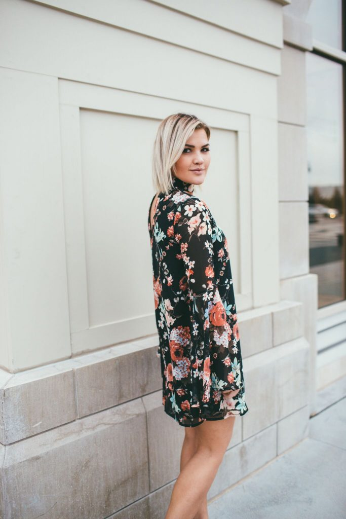 Lulus Feeling of Love Floral Dress