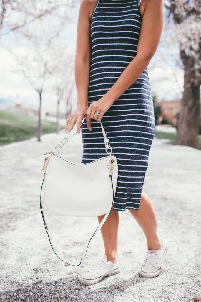 Splendid Striped Dress and Henri Bendel