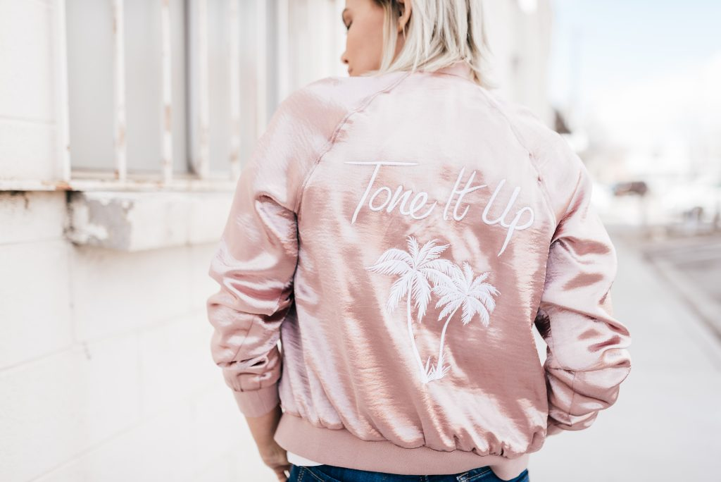 Tone It Up Bomber Jacket, Dear John Denim
