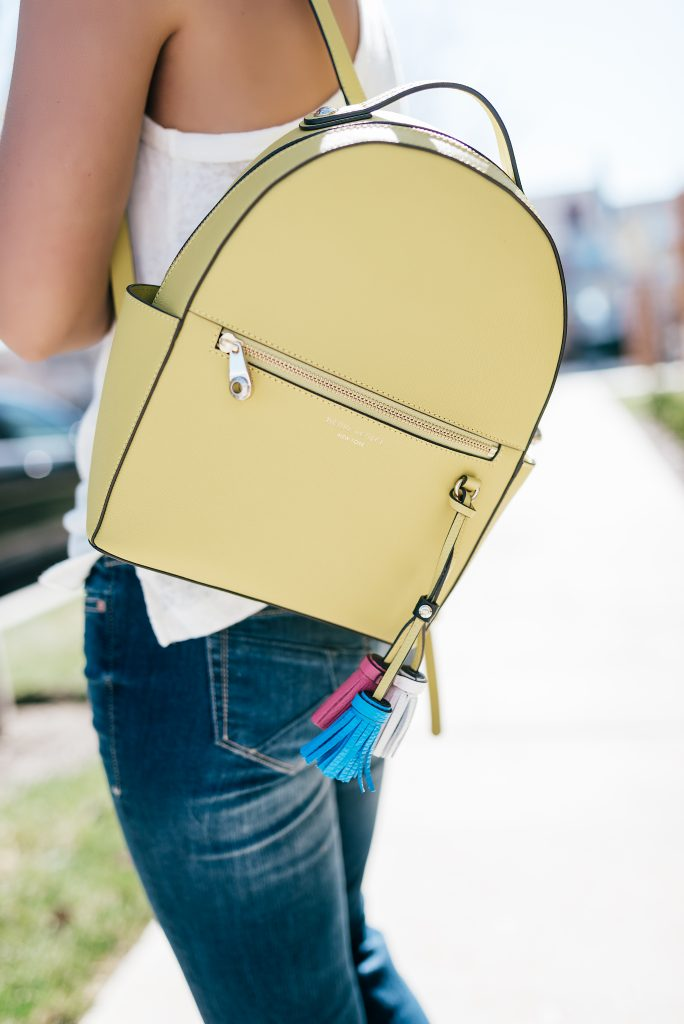 Dear John Denim and Henri Bendel Backpack