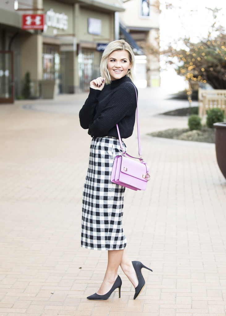 Wild One Forever - Kingdom and State Buffalo Check Skirt and Henri Bendel Schoolbag 10