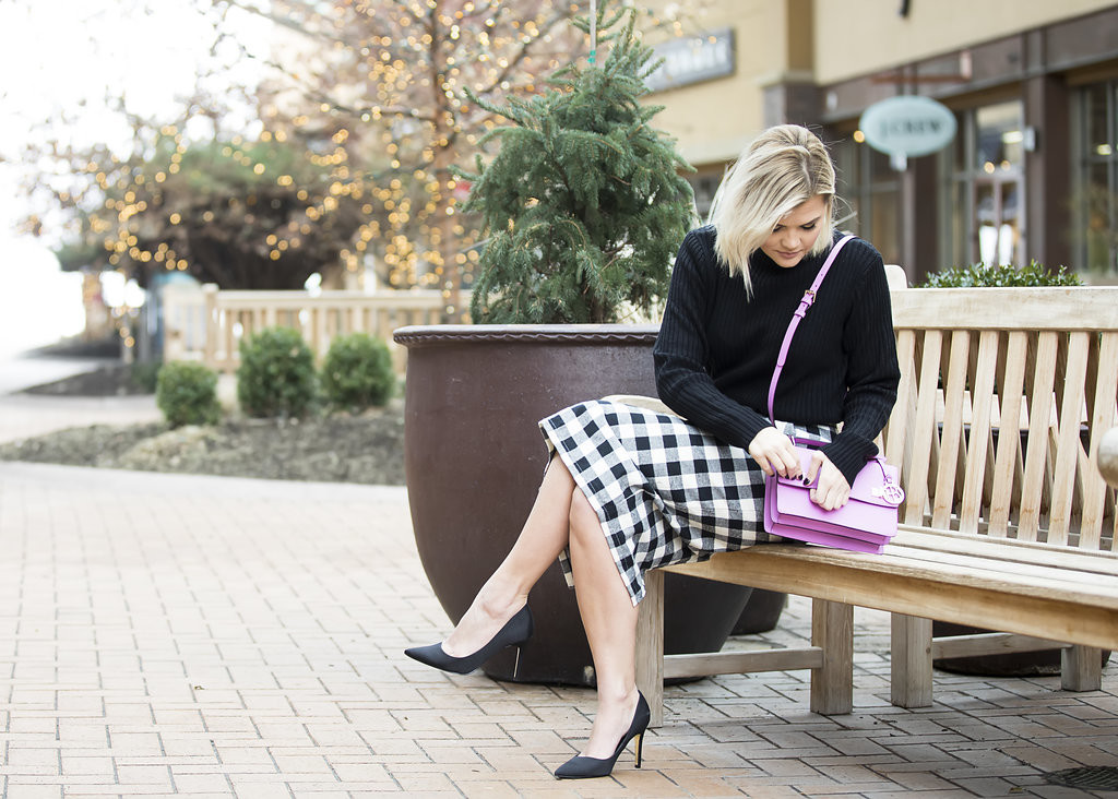 Wild One Forever - Kingdom and State Buffalo Check Skirt and Henri Bendel Schoolbag 5