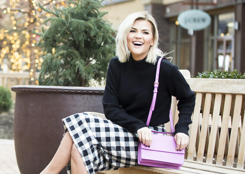 Wild One Forever - Kingdom and State Buffalo Check Skirt and Henri Bendel Schoolbag 7