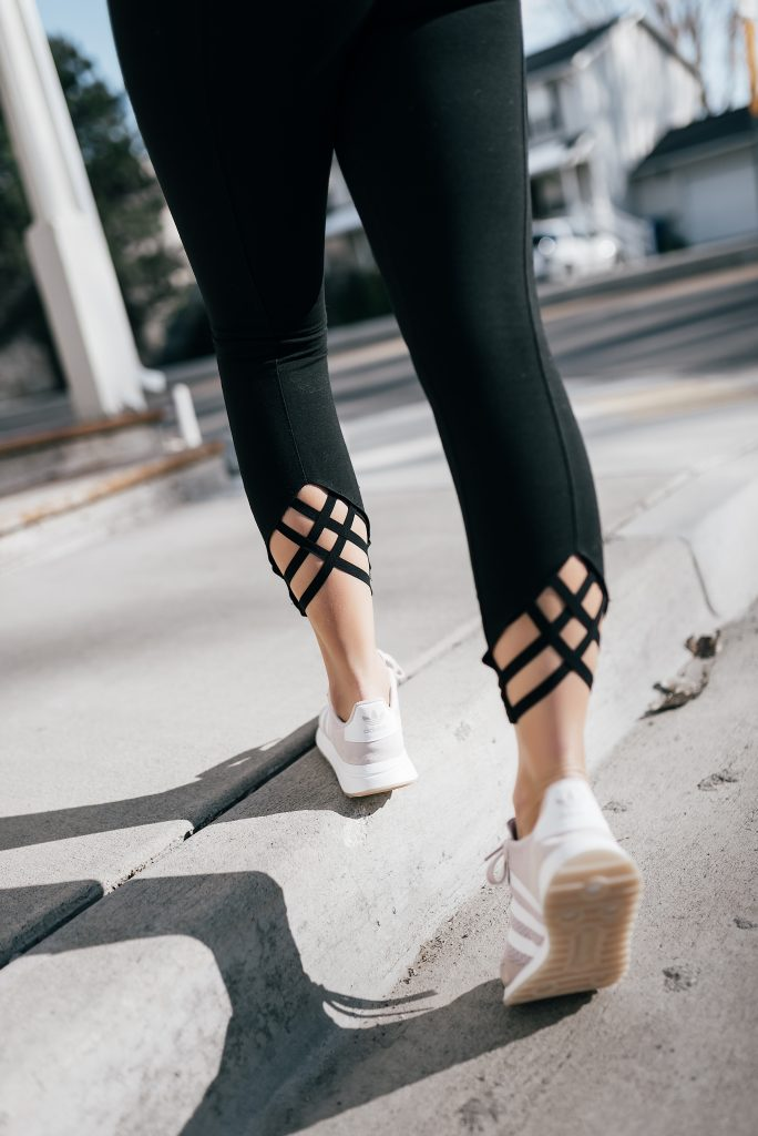 Lysse Fashions Leggings and Adidas Flashback Sneakers