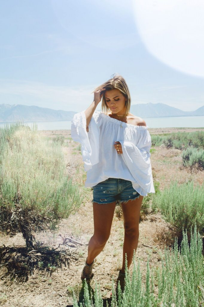 Flowy White Blouse from SheIn