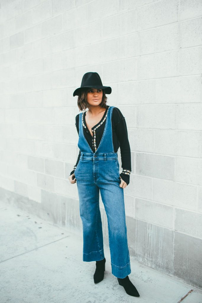 Free People Thermal and Wide Leg Overalls