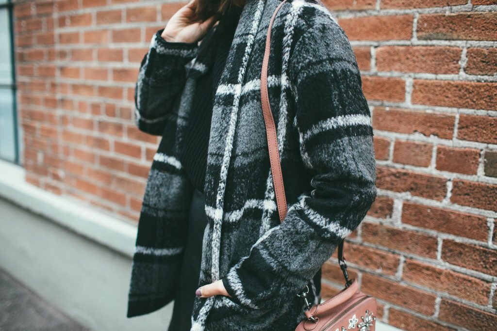 Home for the Holidays Plaid Coat