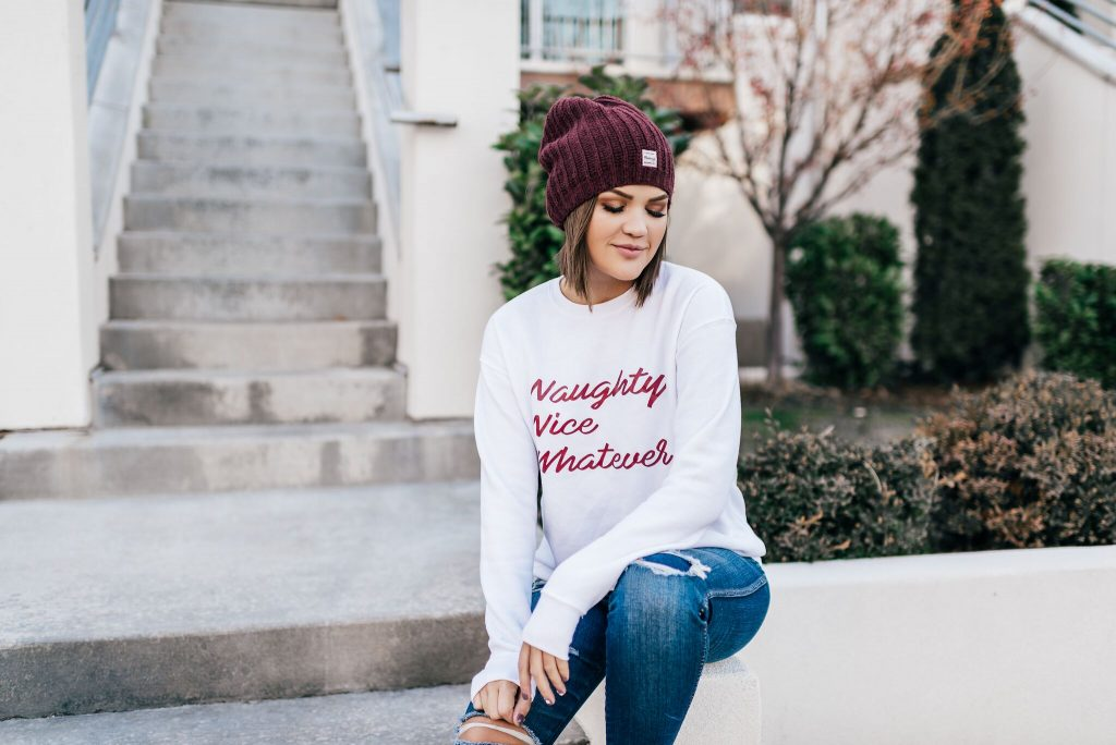 Naughty Nice Whatever Sweatshirt