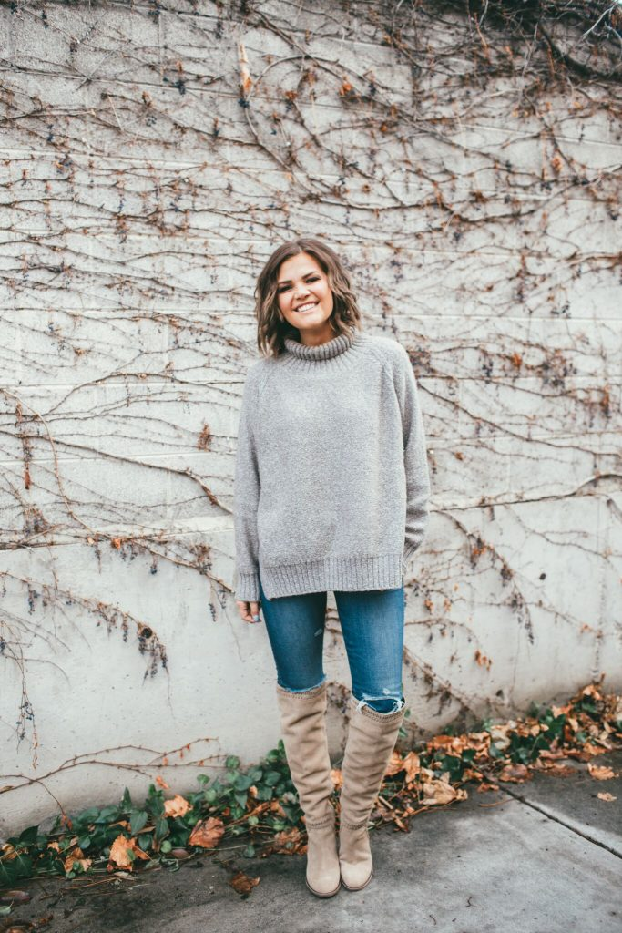 JessaKae Nickel Loft Sweater and Vince Camuto Boots
