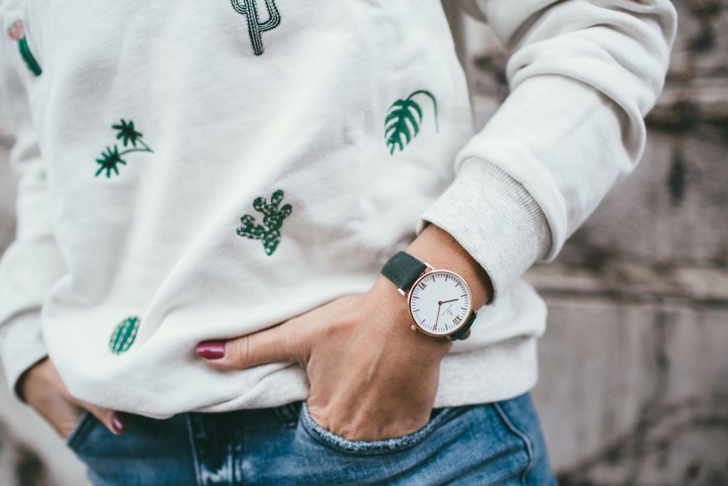 Embroidered Cactus Sweatshirt