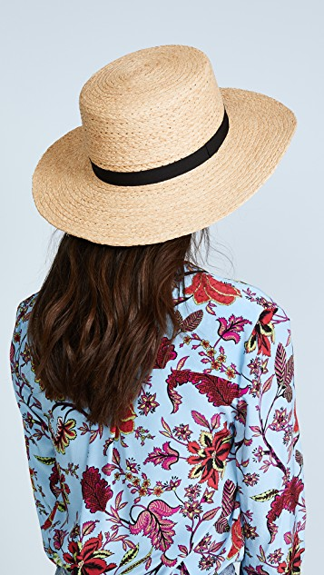 Hat Attack Rafia Boater Hat