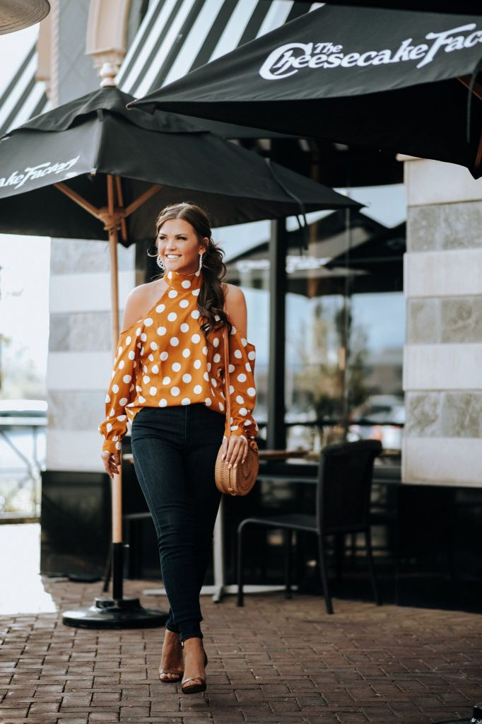 Orange Polka Dot Blouse