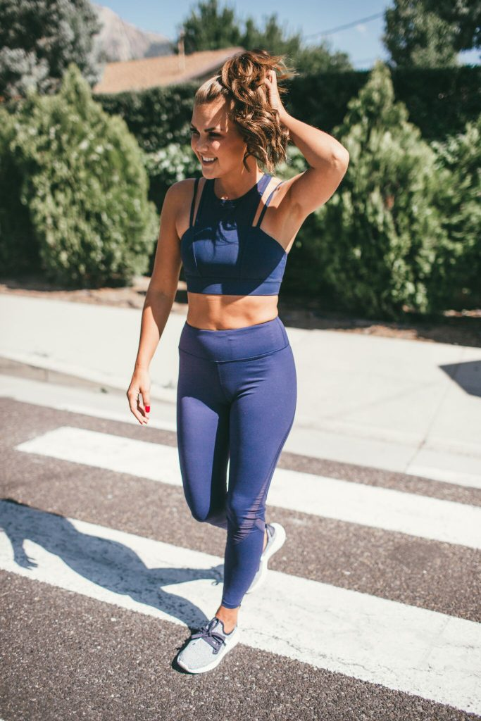 Aro Athletics Navy Workout Set
