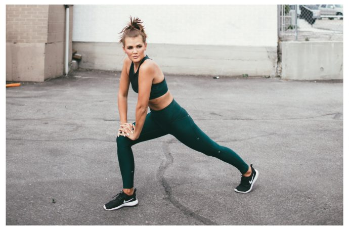 Ghost Flower Green Workout Set