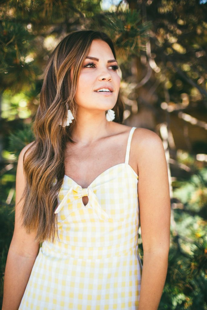 Grae Apparel Yellow Gingham Dress