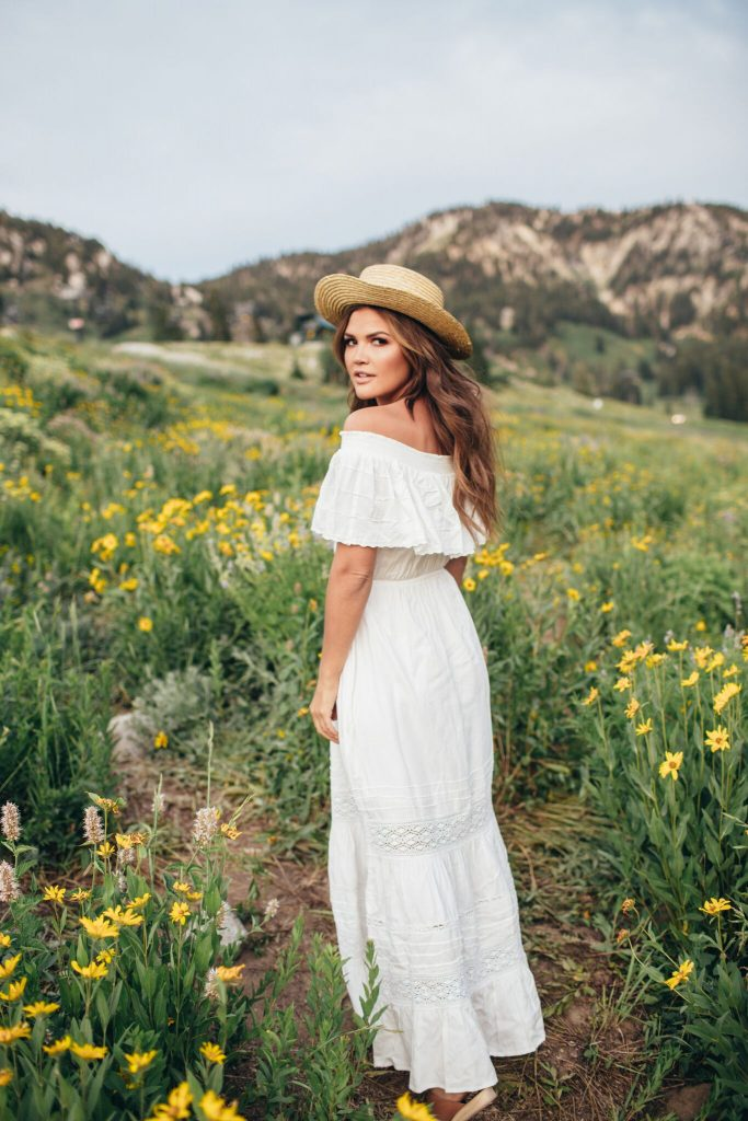 Bohemian Mama Cleobella Sardinia Dress and Lack of Color Boater Hat