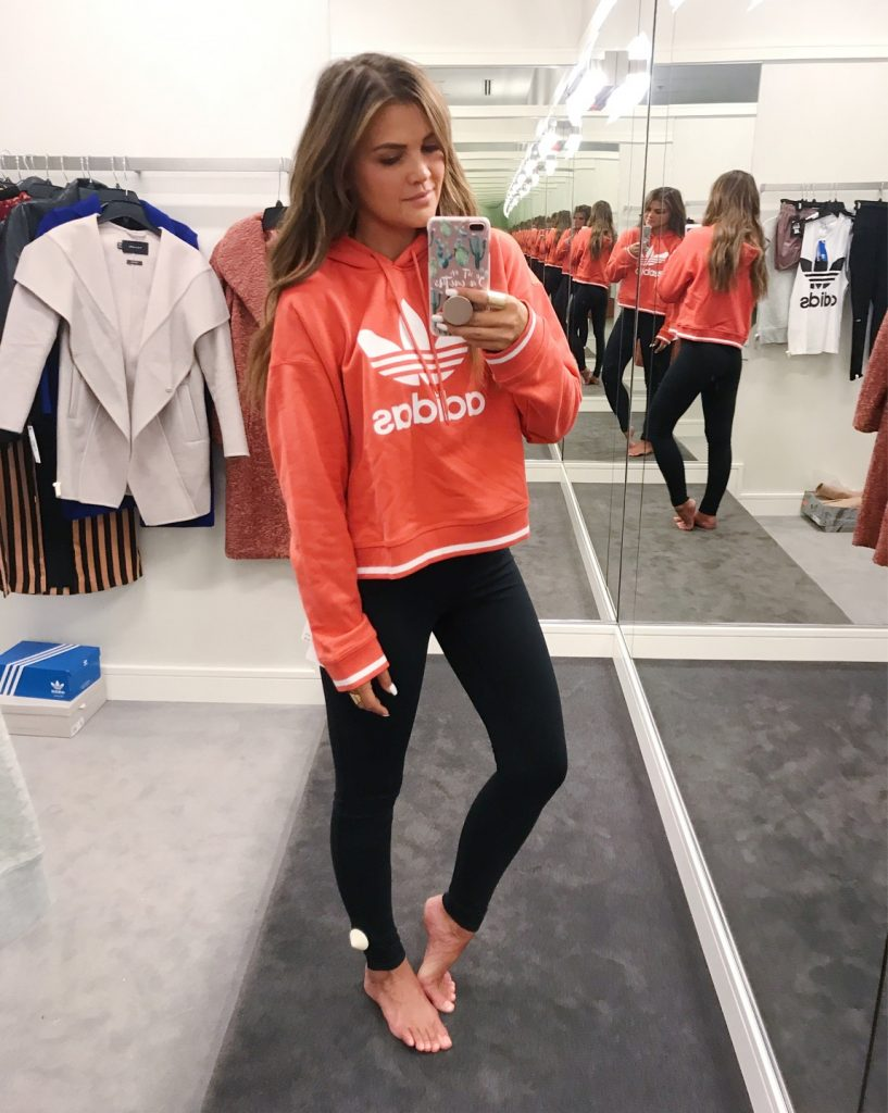 Wild One Forever - Nordstrom Anniversary Sale 2018 Activewear coral adidas sweatshirt