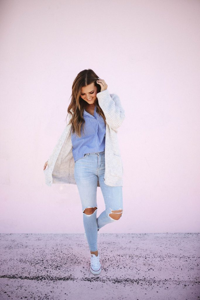 Nordstrom Anniversary Sale 2018 - Madewell blouse and free people jeans