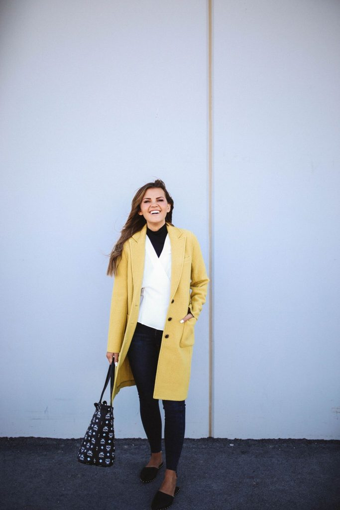 Nordstrom Anniversary Sale 2018 - yellow j.crew coat