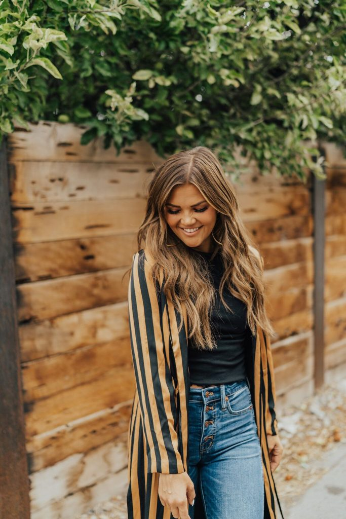 Topshop Striped Duster