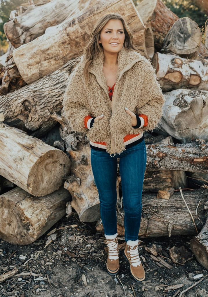 Free People High in the Sky Jacket and Marc Fisher Izzie Boots