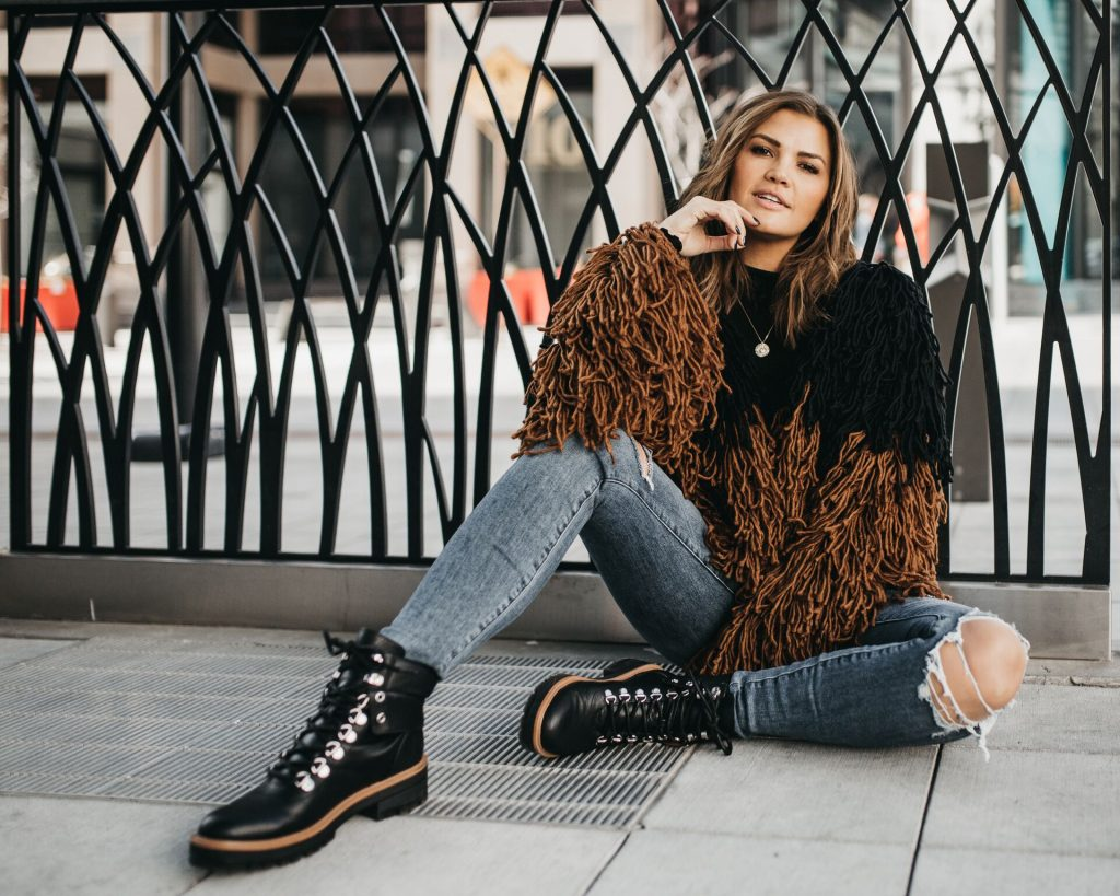Indigo Rd. Isaya Boots and Shaggy Sweater