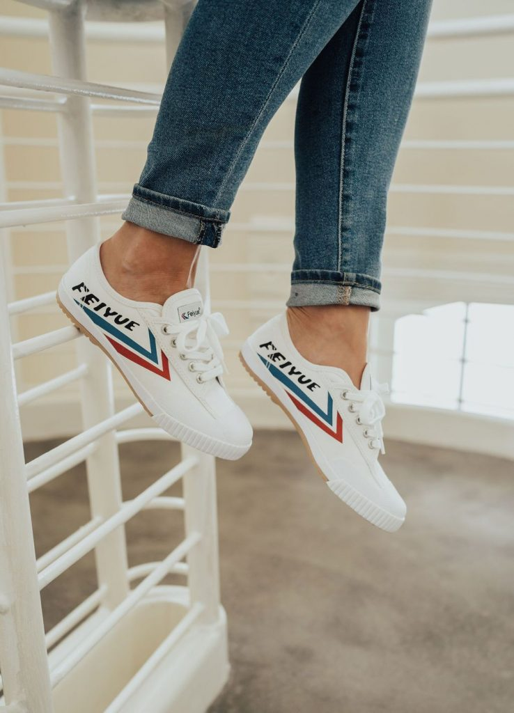 Red White and Blue Feiyue Sneakers