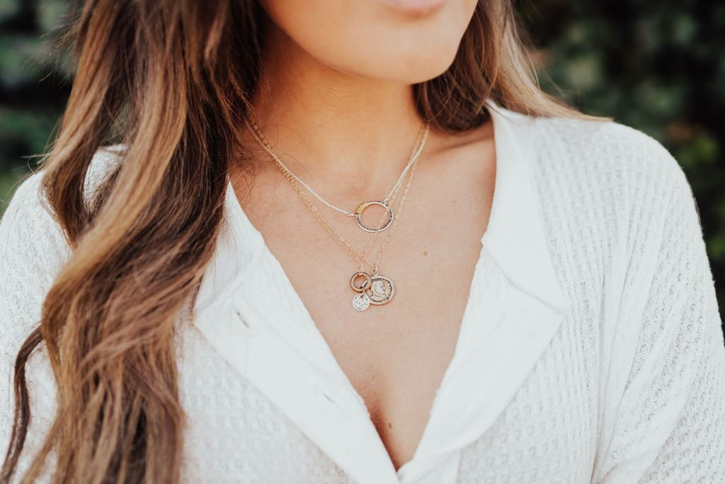 Honey Ice Co coin layering necklaces