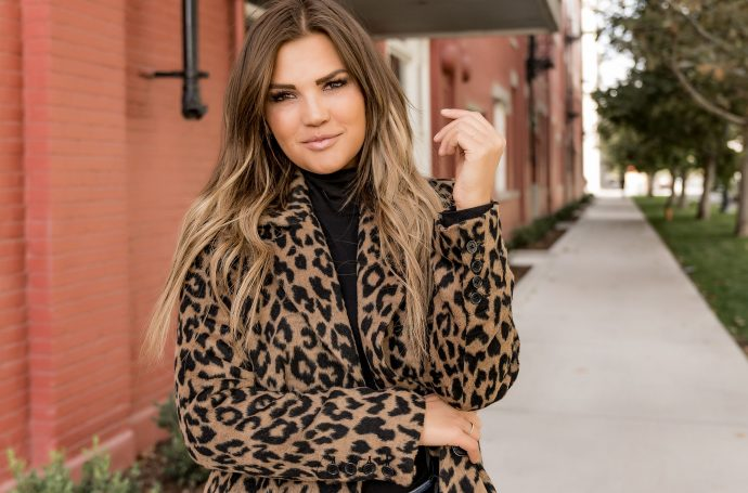 black friday; black friday sales; coat; leopard print; bernardo outerwear