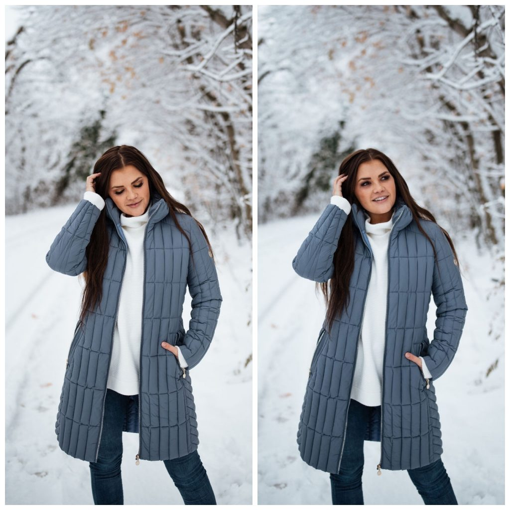 snow; bernardo outerwear; coat; quilted coat; utah snow