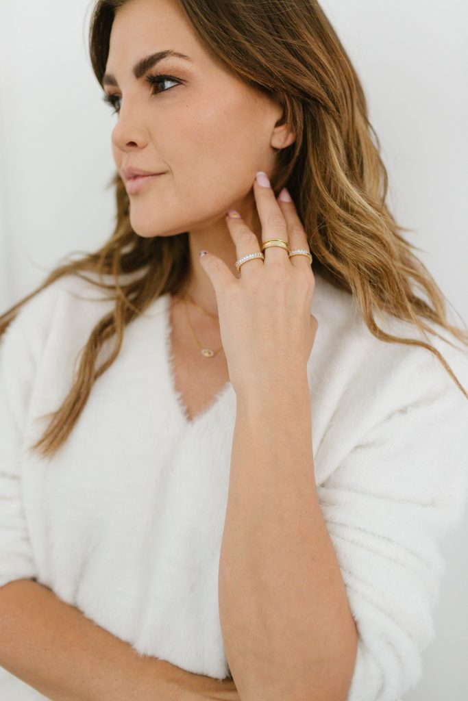 baublebar, stacking rings, gold rings, gift ideas for women, cubic zurconia